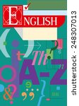 english language cover.... | Shutterstock .eps vector #248307013