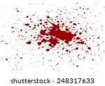 vector blood splatter isolated