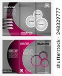 tri fold brochure folder... | Shutterstock .eps vector #248329777