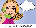 pop art cute retro woman in...   Shutterstock .eps vector #248342083
