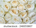 Many White Roses As A Floral...