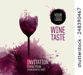 invitation template for event... | Shutterstock .eps vector #248390467
