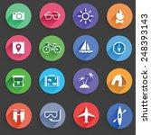 set of universal standard flat... | Shutterstock .eps vector #248393143
