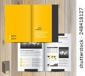 classic yellow brochure... | Shutterstock .eps vector #248418127