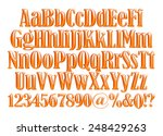 complete alphabet with digit... | Shutterstock . vector #248429263