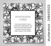 set of invitations with floral... | Shutterstock .eps vector #248435323