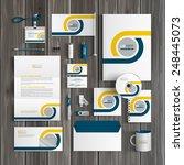 white classic corporate... | Shutterstock .eps vector #248445073