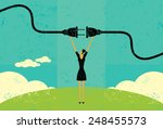 getting plugged in a... | Shutterstock .eps vector #248455573