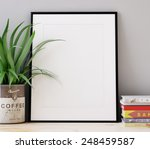 frames and books. 3d rendering   Shutterstock . vector #248459587