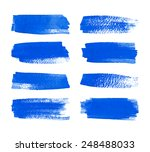 set of watercolor hand painted... | Shutterstock .eps vector #248488033