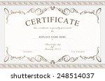 certificate border  certificate ... | Shutterstock .eps vector #248514037