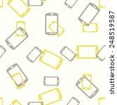 seamless background  smartphone | Shutterstock .eps vector #248519587