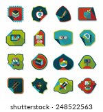 school sticker flat banner... | Shutterstock .eps vector #248522563