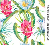 tropical seamless pattern.... | Shutterstock .eps vector #248548783