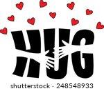 a big hug | Shutterstock .eps vector #248548933
