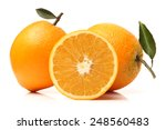 orange fruit on the white... | Shutterstock . vector #248560483