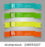 colorful modern text box... | Shutterstock .eps vector #248593207