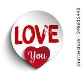 vector   valentine day i love... | Shutterstock .eps vector #248612443