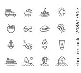 summer icons and beach icons | Shutterstock .eps vector #248617957