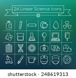 linear vector science icons set ...