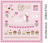 set of hearts and sweets design | Shutterstock .eps vector #248619763