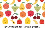 pattern with funny fruits | Shutterstock .eps vector #248619853