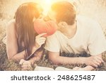 young couple in love kissing... | Shutterstock . vector #248625487