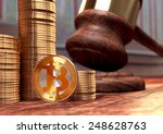 bitcoin court case trial | Shutterstock . vector #248628763