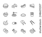 food icons   Shutterstock .eps vector #248635207