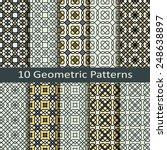 set of ten geometric patterns | Shutterstock .eps vector #248638897