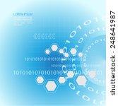 technology background   binary... | Shutterstock .eps vector #248641987