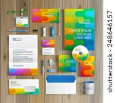 color corporate identity... | Shutterstock .eps vector #248646157