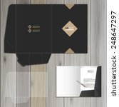 classic black folder template... | Shutterstock .eps vector #248647297