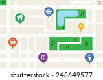 city map of a generic city with ... | Shutterstock .eps vector #248649577