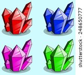 game crystals. vector...