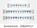 pointer with country flags in a ... | Shutterstock .eps vector #248659117