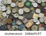 load various antique pocket... | Shutterstock . vector #248669197