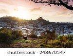 a couple enjoying a beautiful...   Shutterstock . vector #248670547