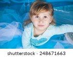portrait of cute smiling little ... | Shutterstock . vector #248671663
