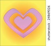 simple vector valentine heart | Shutterstock .eps vector #24869026
