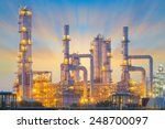 oil refinery factory at... | Shutterstock . vector #248700097