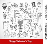 set of hand drawn valentine's... | Shutterstock .eps vector #248707333