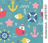 seamless vector pattern of... | Shutterstock .eps vector #248707537
