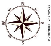 the emblem of the compass rose. ...   Shutterstock . vector #248709193