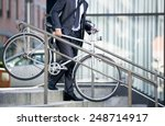 business man and his bicycle ... | Shutterstock . vector #248714917