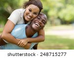 attractive young black couple... | Shutterstock . vector #248715277