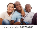 cheerful african american... | Shutterstock . vector #248716783
