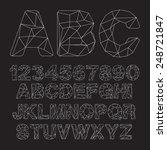 vector lowpoly outline font | Shutterstock .eps vector #248721847