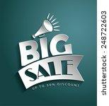 sale vector poster  3d paper... | Shutterstock .eps vector #248722603