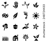 environmental icons   set of... | Shutterstock .eps vector #248724433